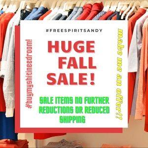 Huge fall sale!! Deep discounts!  I need room!